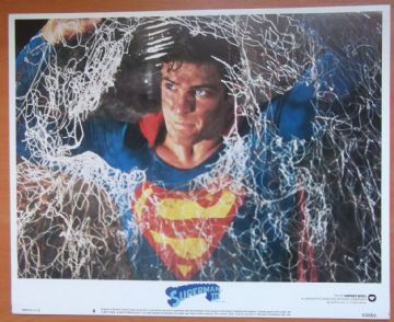 Superman 3, Original Lobby Card #8, Christopher Reeve, Superman trapped! '83
